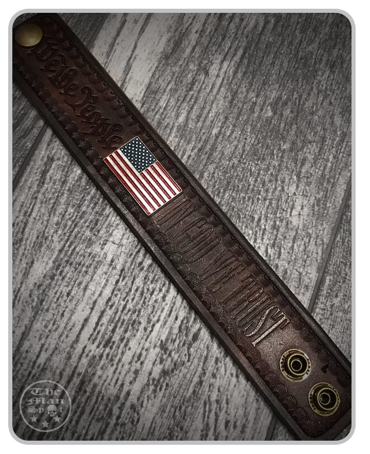 "USA Leather ""Freedom"" Cuff"