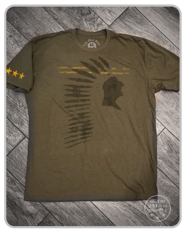 "Green ""Indian Head"" WWII Crew Tee"