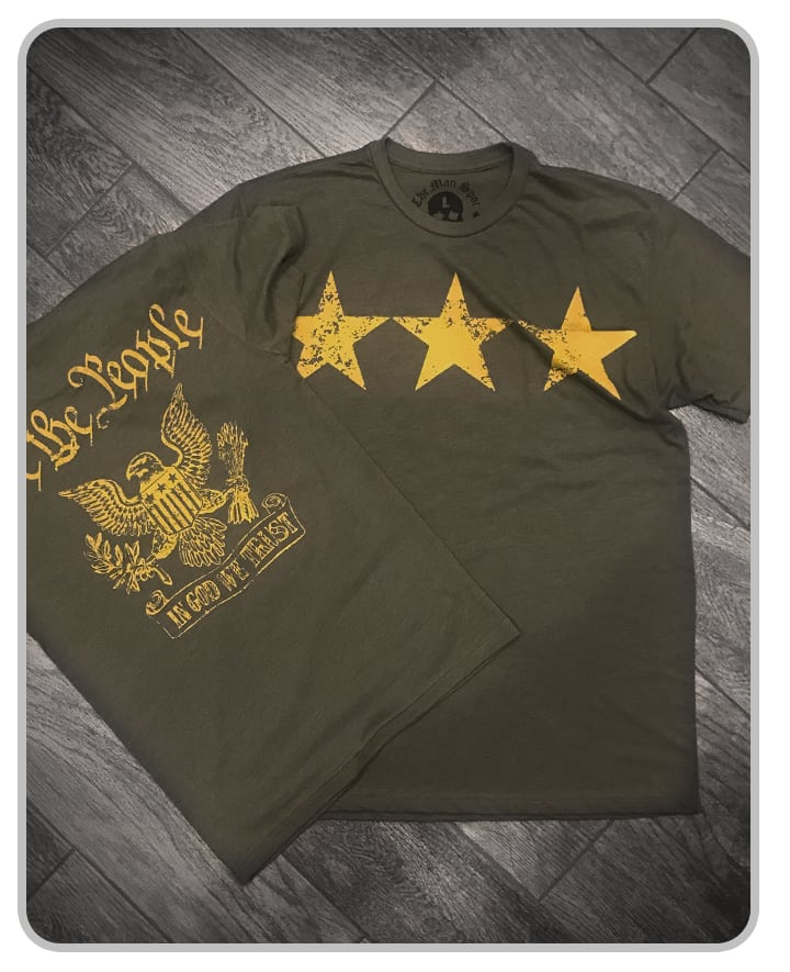 "3-Star Green ""Independence"" Crew Tee (unisex)"