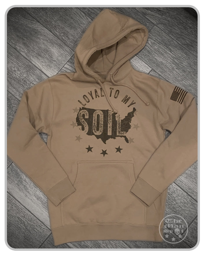 Loyal To My Soil Pullover Hoodie - SandStone