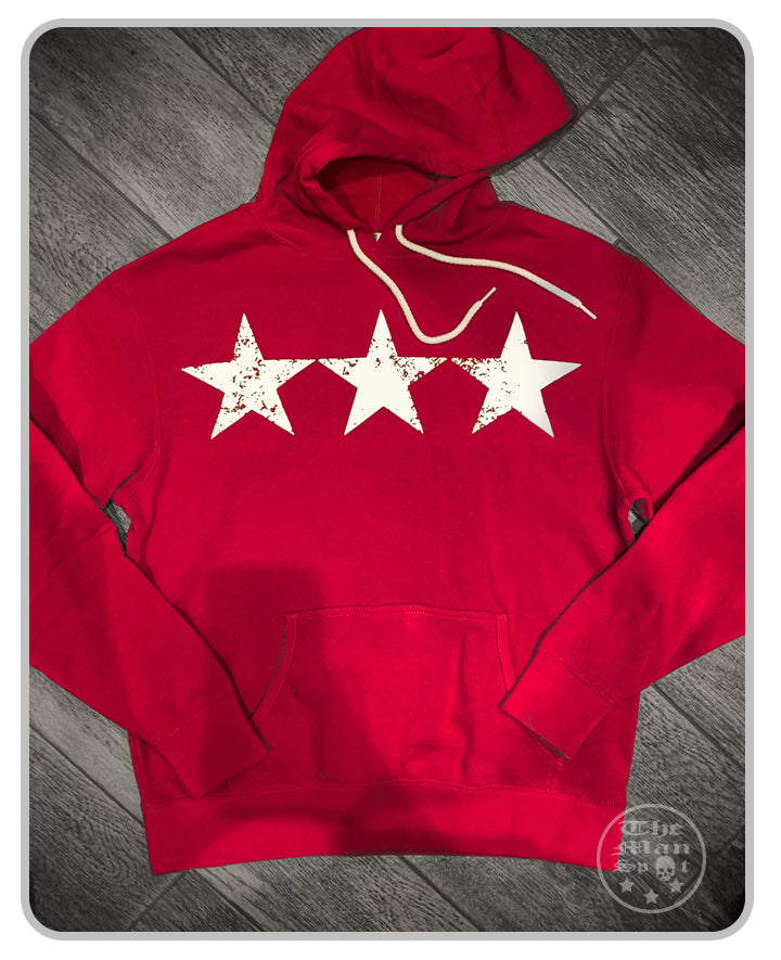 "3 Star Red/White ""Independence"" Pullover Hoodie"