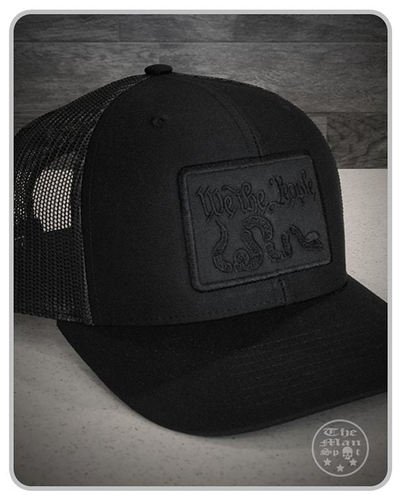 "All Black Murdered Out ""We the People"" SnapBack Hat"
