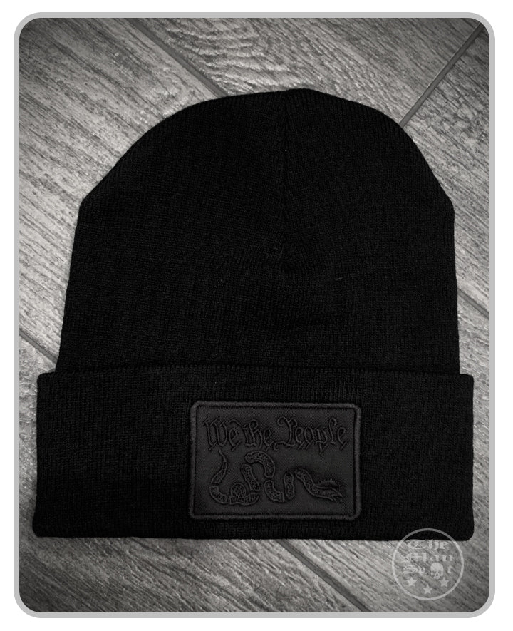 100% Made in the USA Beanie - Murdered Out - We The People