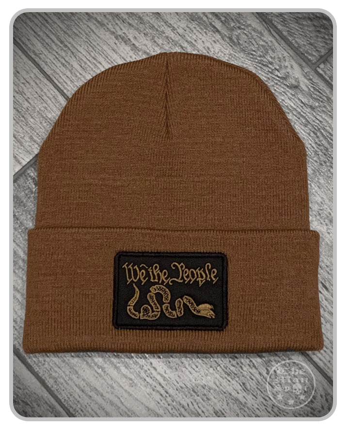 100% Made in the USA Beanie - Brown - We The People