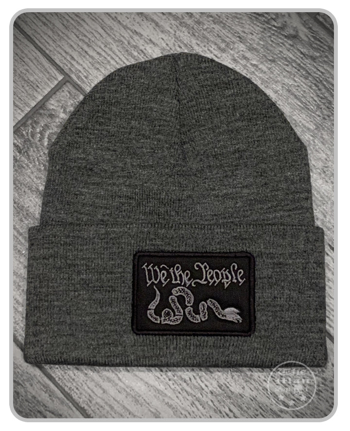 100% Made in the USA Beanie - Dark Grey - We The People