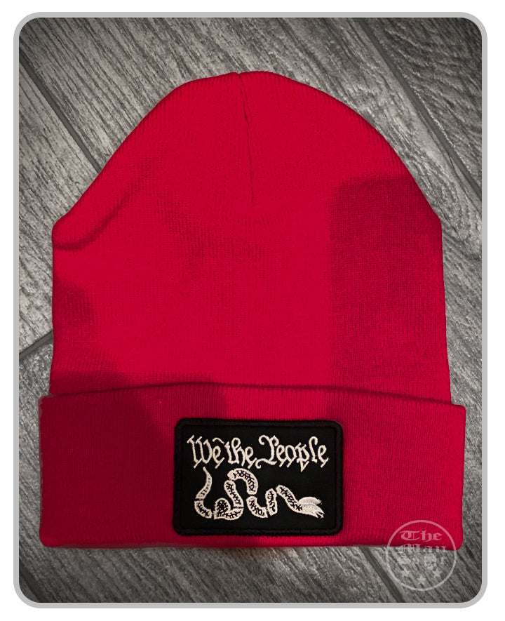 100% Made in the USA Beanie - Red - We The People