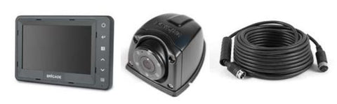 "Select single flush-mount camera monitor system for small rigid vehicles and vans 5"" monitor"