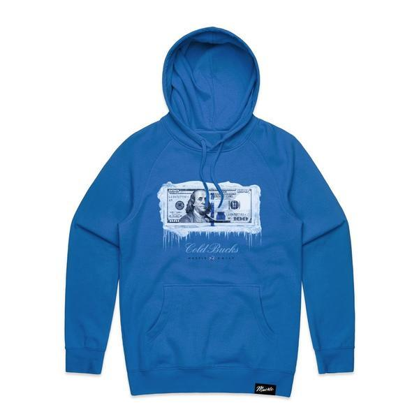 Hoodie Hasta Muerte Cold Bucks royal blue