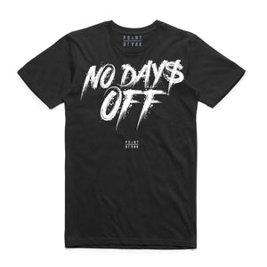 T-shirt Point Blank No Days Off in Black