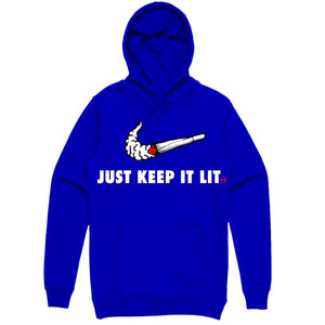 Hoodie Planet of the grapes SWOOSH BLUE