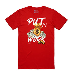 T-shirt Point Blank Put in Work Red