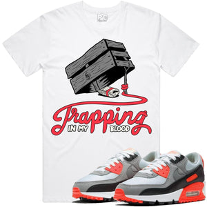 T-shirt Planet of the grapes TRAPPING White w/ Infrared & Gray