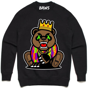 crewneck Exotic Grizzly Baws (Exotic Grizzly Baws) Black