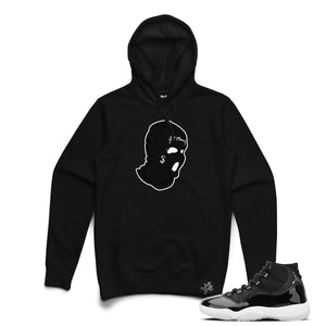 Hoodie Get Money Mask Chenille Patch Black