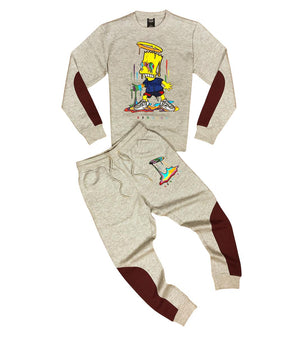 Crewneck & Jogger Kit GENUINE GENUINE BART SIMPSON H. GREY