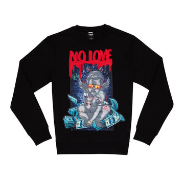"Crewneck GENUINE ""NO LOVE"""
