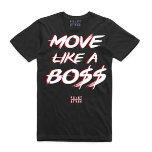 Move Like a Bo$$ T-Shirt - BLACK/RED