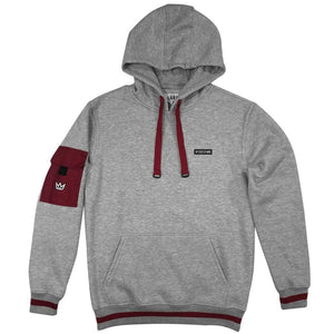 Hoodie NY STATE OF MIND Cargo Grey/Burgundy