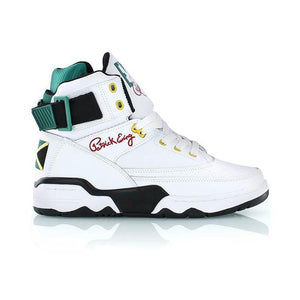 Souliers Patrick Ewing 33 HI White/Black/Green/Yellow Jamaica OG