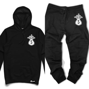 Hoodie & Jogger Hasta Muerte Get Money Che Patch Black