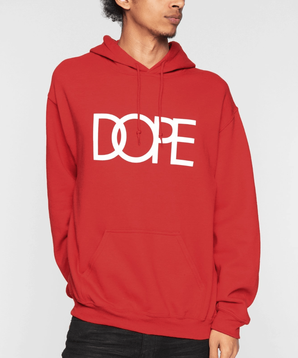 Hoodie DOPE classic Logo Red