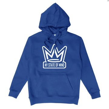 HOODIE NY STATE OF MIND CROWN LOGO ROYAL