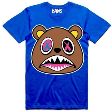 T-shirt Crazy Baws Royal