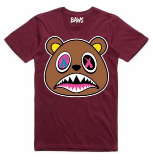 T-shirt Crazy Baws Burgundy