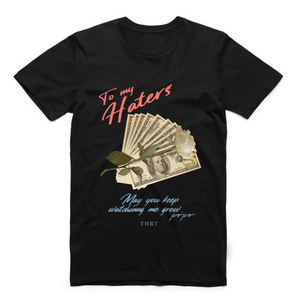 T-shirt THRT NO HATERS OCEANS BLACK
