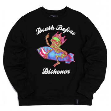 Crewneck Roku Studio Death before dishonor BLACK