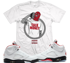 T-shirt Million Dolla Motive Talk Money Phone White