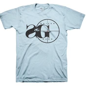 T-shirt SNIPER GANG LOGO Light Blue