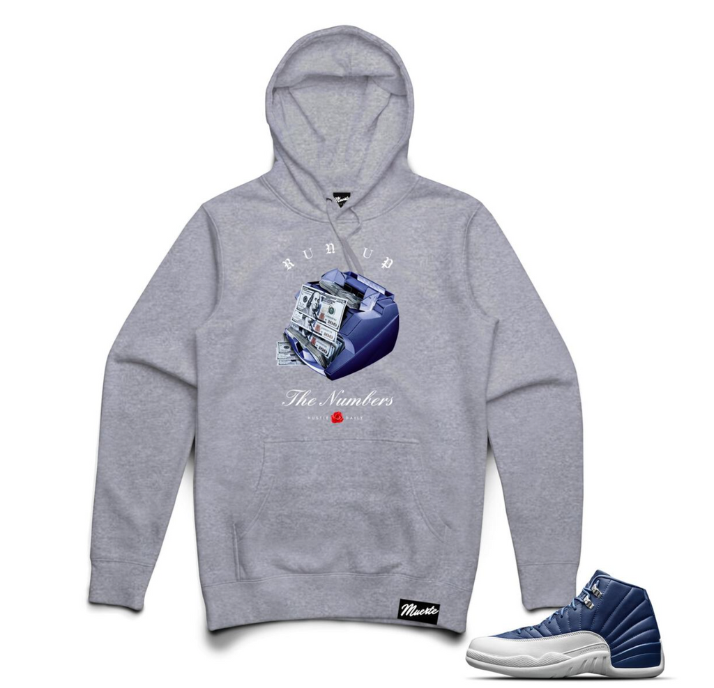 Hoodie Hasta Muerte RUN UP HOODIE GREY HEATHER