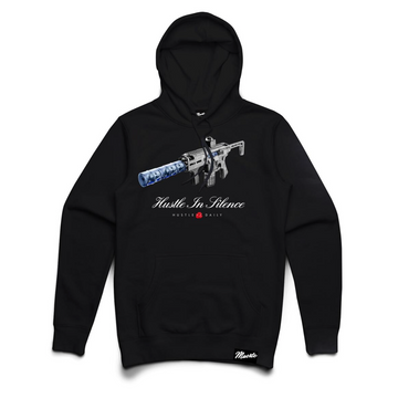 Hoodie Hasta Muerte HUSTLE IN SILENCE Black