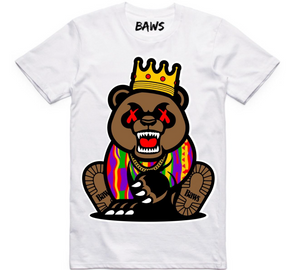 T-shirt Baws Grizzly White
