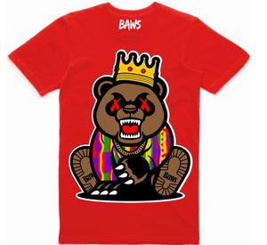 T-shirt Baws Grizzly Red