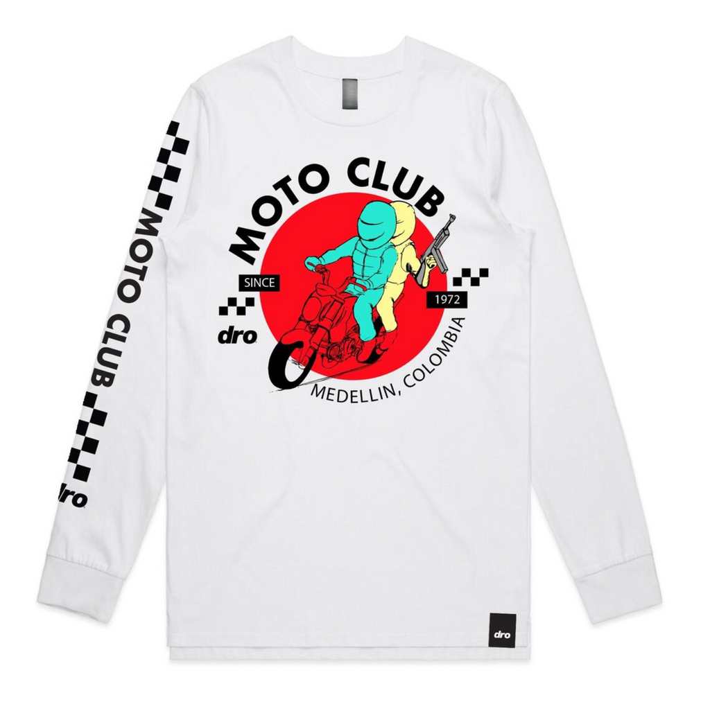 LONG SLEEVE DRO MOTOCLUB  WHITE