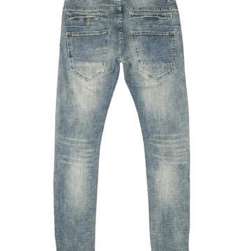 TEAR DRIP MEDIUM TINT DENIM PANTS (RK4480346)