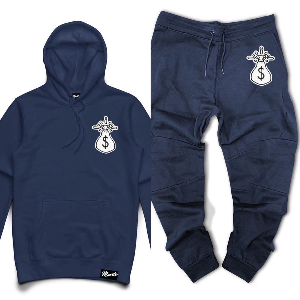 Hoodie & Jogger Hasta Muerte Get Money Che Patch NAVY