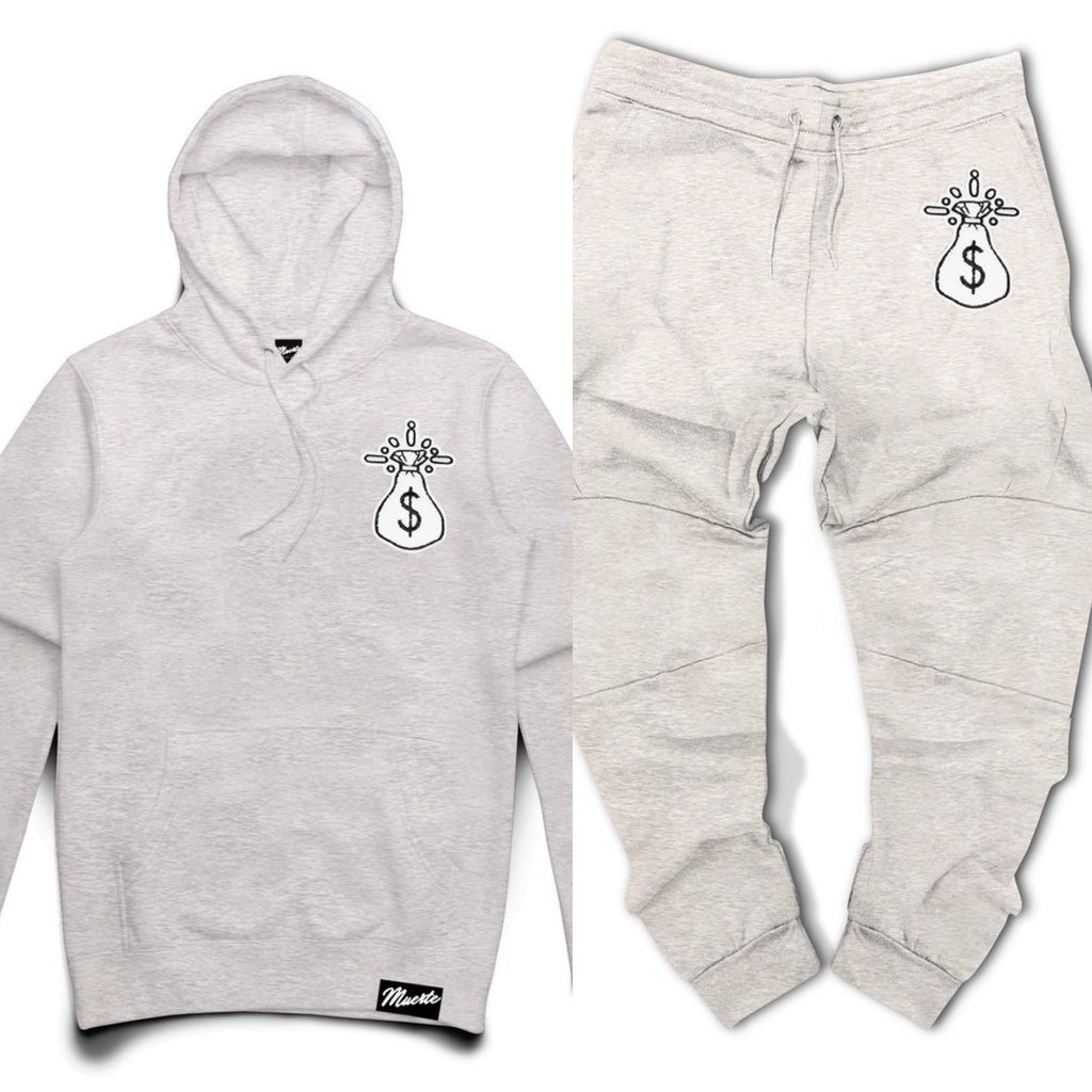 Hoodie & Jogger Hasta Muerte Get Money Che Patch GREY