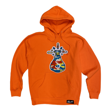 Hoodie Hasta Muerte Camo money chenille patch Orange