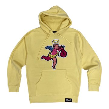 Hoodie Hasta Muerte Angel Money Chenille patch light yellow