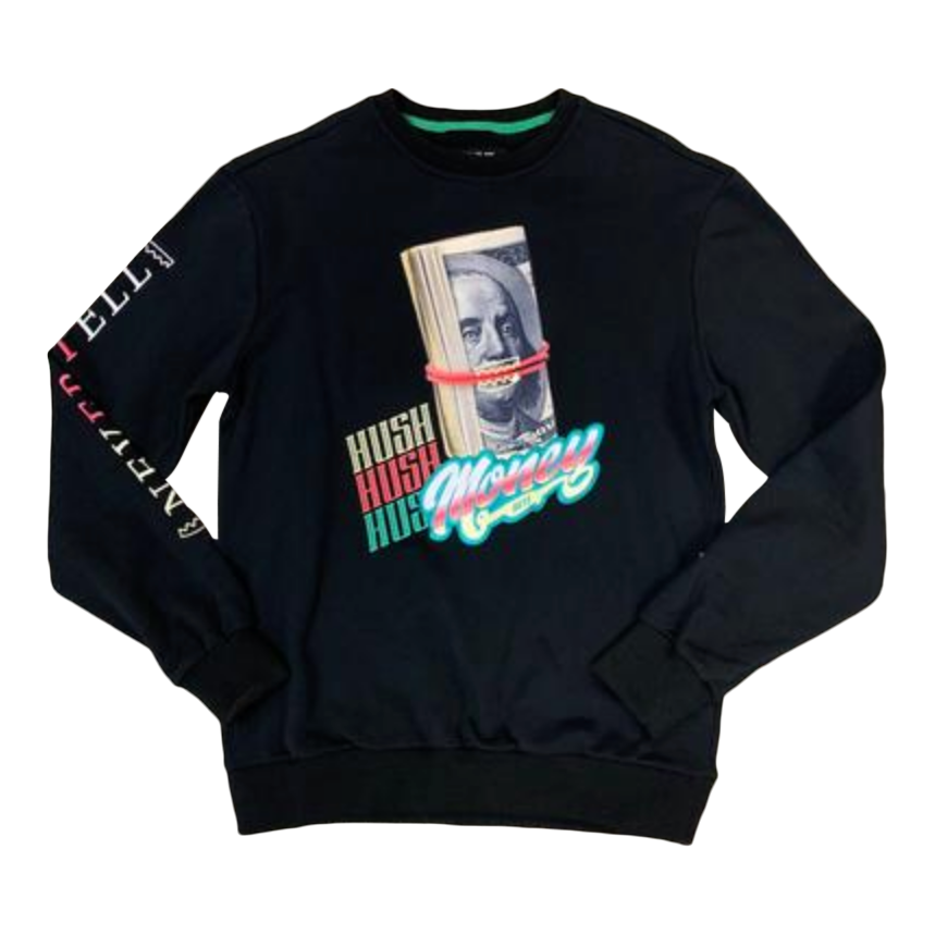 Crewneck BKYS HUSH MONEY BLACK