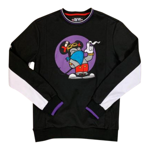 CREWNECK BKYS BAD MICK BLACK/PURP