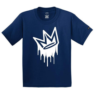 T-shirt NY State of mind DRIPPING CROWN Navy