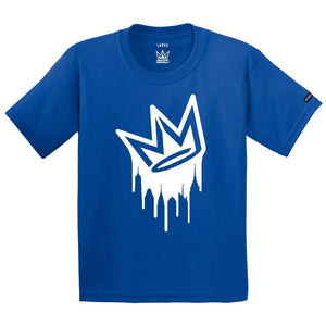 T-shirt NY State of mind DRIPPING CROWN Royal