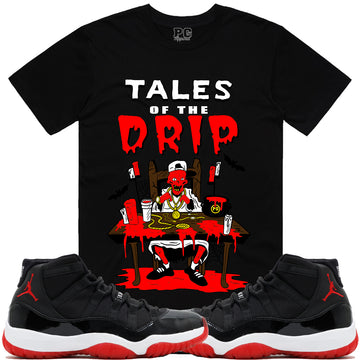 T-shirt Planet of the grapes TALES DRIP - Black w/ Red