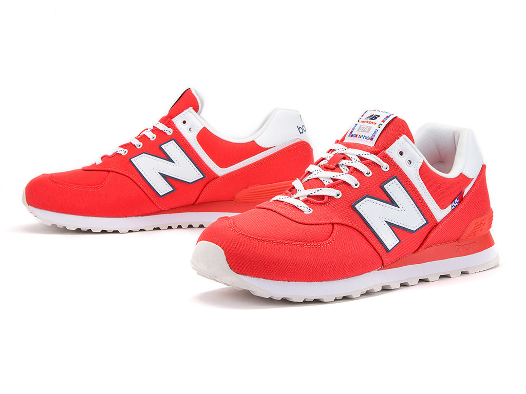 Souliers New Balance 574 Rouge/Gris
