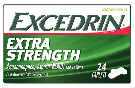 Excedrin Extra Strength Caplets for Headache Pain Relief