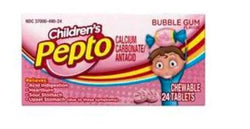 Pepto Kid's Bubblegum Flavor Chewable Tablets 24ct